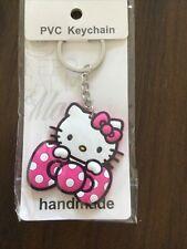 Hello Kitty Head Key Ring Key Chain NEW PVC