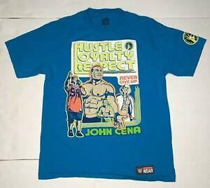 WWE John Cena Never Give Up / U Can't C Me Back Print T-Shirt Mens Size Medium