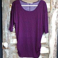 41 Hawthorn Dolman Sleeve Top Women's Size Medium Stitch Fix Purple