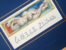 PABLO PICASSO PETIT NU COUCHÉ ORIGINAL SIGNED LITHOGRAPH MOURLOT PARIS 1963 COA
