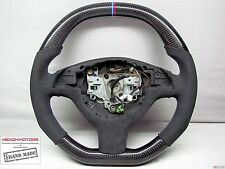 BMW E46 M3 E39 M5 M Ring Flat Bottom Top THICKER ALCANTARA CARBON Steering Wheel