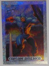 1994 Marvel Masterpieces Silver Holofoil Card #1 - Captain America