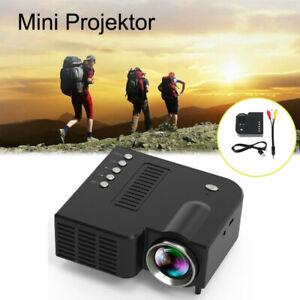 Mini LED Projektor 1080P Heimkino Beamer Outdoor Multimedia USB TF AV UC28C TFT