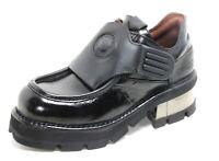 397 Chaussures pour Hommes Bottes Cuir Plateforme 90er Argent Gothique New Rock
