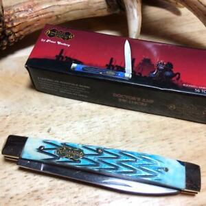 """Frost Steel Warrior Cutlery Caribbean Blue Bone  3 5/8"""" Doctors Knife SW119CBJ"""