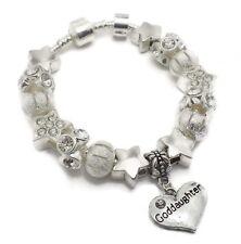 Girls Kids Childrens Star Goddaughter 925 Silver Charm Bracelet Gift 18 cm