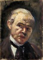 Oil painting Self portrait of Lesser Ury male figure hand painted canvas art