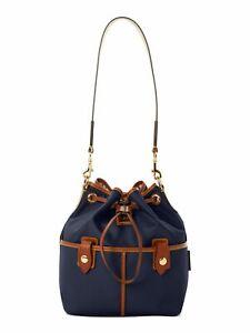 Dooney & Bourke Black Embellished Nylon Bucket Bag