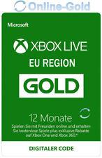 Xbox Live 12 Monate Gold Mitgliedschaft Card - Xbox 360 & One Download Code - EU