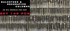 140 PCS 3D STL Model BALUSTERS COLUMNS LEGS for CNC 4 AXLE Engraver Carving