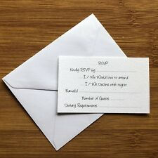 50 x RSVP Cards + 50 x Reply Envelopes! Wedding Invitations Response Cards Bulk