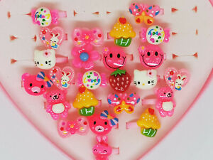 Cartoon Hello Kitty Ring Plastic Accessory Decoration Play House Girl Present