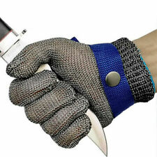 Cut Proof Stab Resistant Stainless Steel Metal Mesh Butcher Safety Gloves