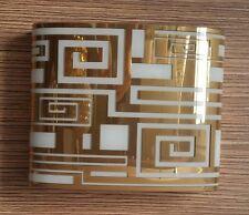 Leucos Eris 30 P-PL lampada da parete con decoro bianco/oro