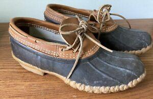 LL Bean Short Duck Boots Ankle Low Shoes Women's US 9 M