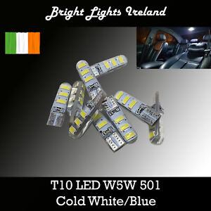 W5W T10 Car LED bulb 6 SMD Cold White/Blue 501 Interior/Parking/Licence lights