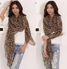 Women's Fashion Long Style Wrap Lady Shawl Leopard Chiffon Scarf Scarves Stole