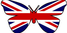 24 X EDIBLE BUTTERFLY CUP CAKE TOPPERS - UNITED KINGDOM UNION JACK FLAG OLYMPICS
