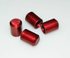 4 RED VALVE STEM CAP CAPS TIRE PRESSURE WHEEL CAR TRUCK ATV SUV GO CART VAN 001