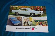 1967 Plymouth Barracuda Brochure Dealer