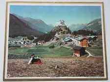 Ancien calendrier almanach postes PTT 1955 photo Château Tarasp Valais Suisse