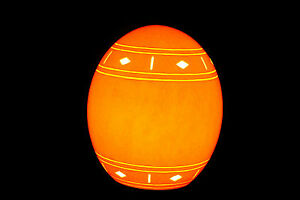 Traditional African Design Genuine Diamond Band Ostrich Egg electric Lamp