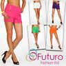 Elegant High Waist Women's Shorts Trousers Multicolours Girls Sizes UK 8-16 PA08