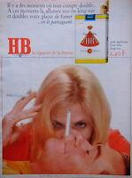 PUBLICITÉ 1968 CIGARETTES HB LA CIGARETTE DE LA DÉTENTE GOÛT AMÉRICAIN KING SIZE