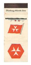 HAMBURG ATLANTIK LINE MATCHBOX LABEL ANNI '50 MARINA GERMANY DEUTSCHLAND