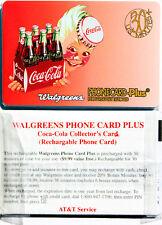 WALGREENS PHONECARD PLUS 30 MIN COCA-COLA COLLECTOR'S CARD MINT