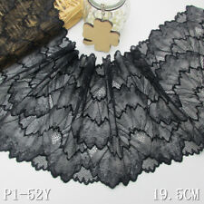 """1 Yard Stunning Crochet Stretch Lace Trim For DIY Craft Lingerie Wide 7 5/8"""""""