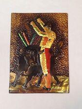 "Big Spanish Bullfighting Matador ""Banderillas"" Textured Wall Hanging Art"