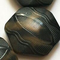 15 Antique Buttons Vintage Art Deco Faux Tortoise Tagua Vegetable Buttons