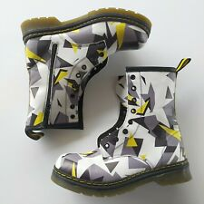 Unbranded yellow black grey Geometric Combat boots zip lace Size EUR 40 Womens