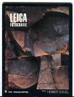 Leica Fotografie Magazine August 1979 English Ed. Herbert Dunzl EX 032117lej
