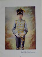 1901 Stampa & Biografia il Suo Royal Highness The Duca Di Sassonia Coburg E