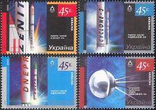Ukraine 2005 Space Exploration/Research/Rockets/Satellite 4v set (n24124)