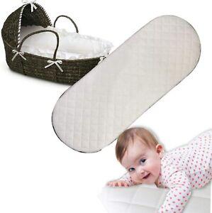 Moses Basket Foam Mattress Microfiber Fits Crib,Mamas & Papas Mothercare Pram