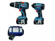 2pc Bosch Blue Professional 18V Lithium Cordless Kit Hammer Drill Impact Driver
