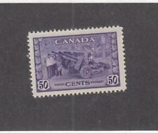 CANADA (MK901) # 261  VF-MLH  50cts JULY 1942 /MUNITIONS FACTORY/VIO CAT VAL $50