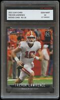 TREVOR LAWRENCE 2021 LEAF iCARD 1ST GRADED 10 ROOKIE CARD RC NCAA CLEMSON TIGERS