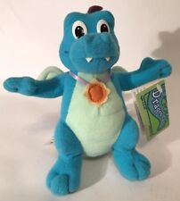 "Dragon Tales Ord Flying Dragons 6"" Blue Plush Flapping Wings 1999 Playskool Tag"