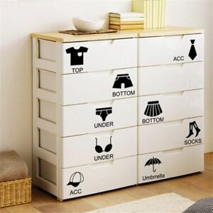 Home Decoration Accessories Wall Sticker Black Decal Drawer Wardrobe Organizer