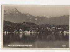 Velden am Woerthersee Suedstrand Mit Mittagskogel Austria 1932 RP Postcard 259a