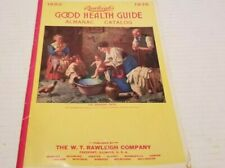 1936 RAWLEIGH'S GOOD HEALTH GUIDE Booklet Almanac Cook Book Catalog