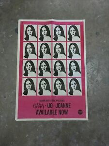 Lady Gaga Urban Outfitters Joanne Poster RARE 2017 Double Sided 33X22