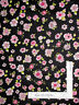 Loralie Love Your Look Salon Parlor Posies Pink Black Cotton Fabric By The Yard