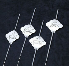 36pc Wedding Sparklers Tags - Let Love Sparkle - Cream Shimmer Paper