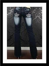 Polyester Regular Machine Washable Boot Cut Jeans for Women