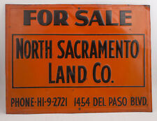 North Sacramento Land Co Embossed Real Estate Scioto Tin Sign Orange Black(HSE2)